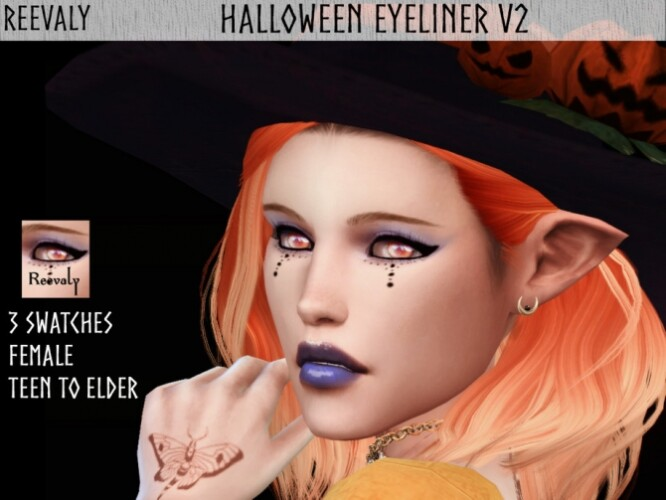Halloween Eyeliner V2 by Reevaly