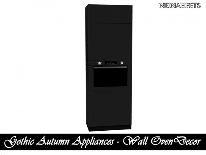 Sims 4 Gothic Autumn Appliances by neinahpets at TSR