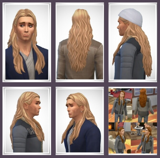 Sims 4 Douglas Hair M at Birksches Sims Blog