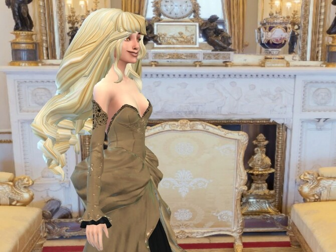 Sims 4 Curlier Longer Bigger Wider Hair at Anna Quinn Stories