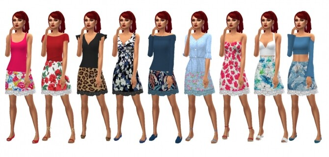 Sims 4 SP10 LACE HEM SKIRT at Sims4Sue