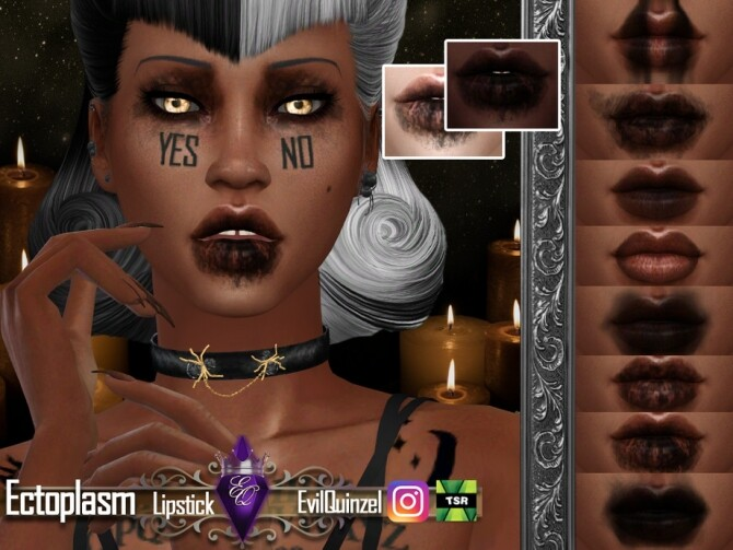 Ectoplasm Lipstick by EvilQuinzel at TSR image 3027 670x503 Sims 4 Updates