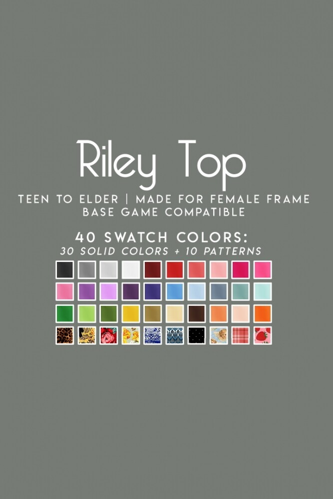 RILEY TOP at Candy Sims 4 image 3033 667x1000 Sims 4 Updates