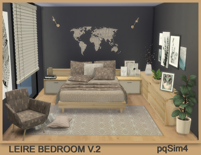 Sims 4 Leire Bedroom V.2 at pqSims4