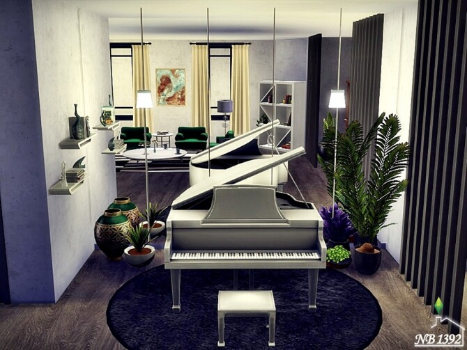 Sims 4 Blissful Living room by nobody1392 at TSR