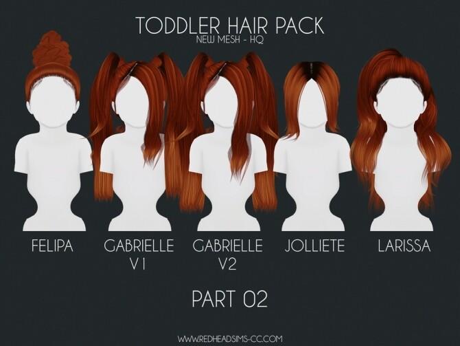 HAIR PACK: KIDS + TODDLER at REDHEADSIMS image 316 670x503 Sims 4 Updates