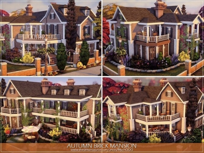 Autumn Brick Mansion by MychQQQ at TSR image 3215 670x503 Sims 4 Updates
