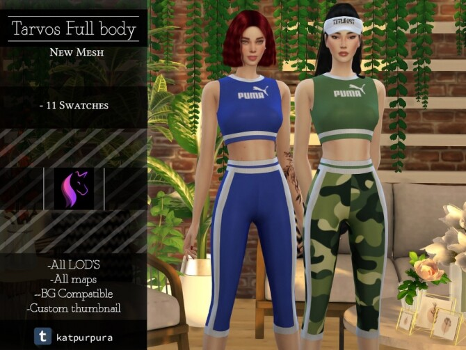 Sims 4 Tarvos Full body by KaTPurpura at TSR