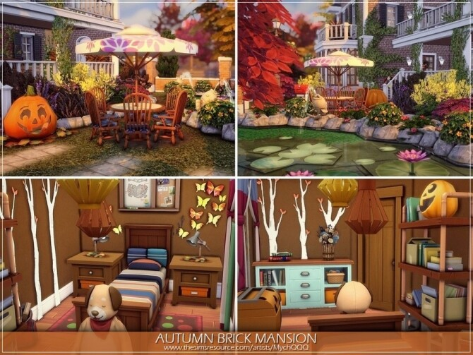 Autumn Brick Mansion by MychQQQ at TSR image 3311 670x503 Sims 4 Updates