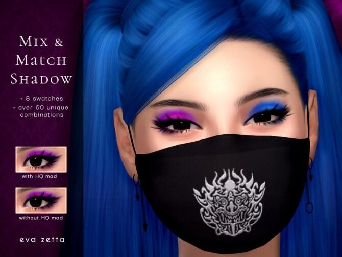 Mix & Match Eyeshadow by Eva Zetta at TSR image 334 670x503 Sims 4 Updates