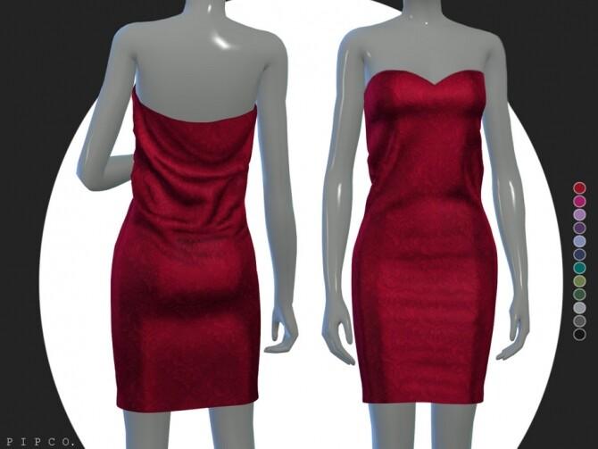 Sims 4 Bella dress by pipco at TSR