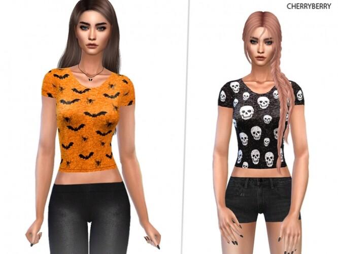 Trendy Halloween Shirt by CherryBerrySim