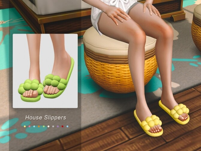 Sims 4 House Slippers 01 by Jius at TSR