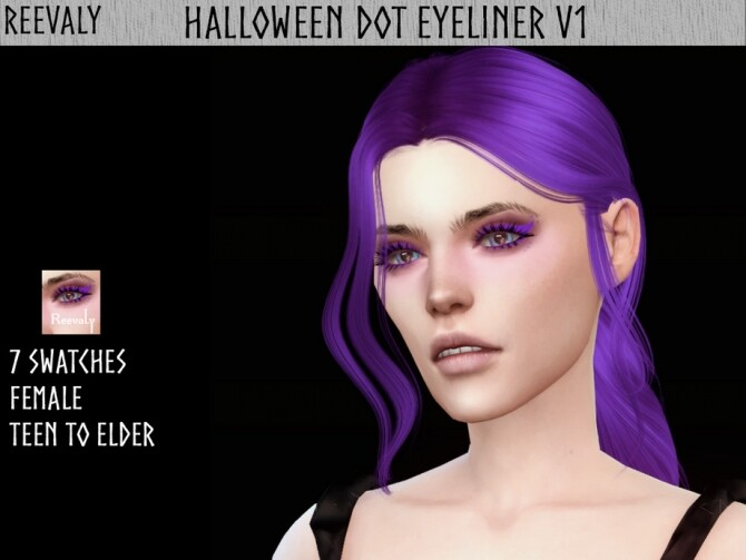 Sims 4 Halloween Dot Eyeliner V1 by Reevaly at TSR