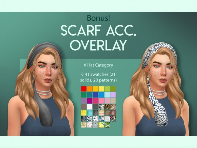 Diana Hair Scarf Overlay by feralpoodles