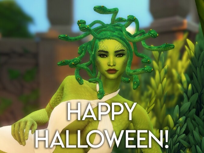 Sims 4 Medusa Hair by feralpoodles at TSR