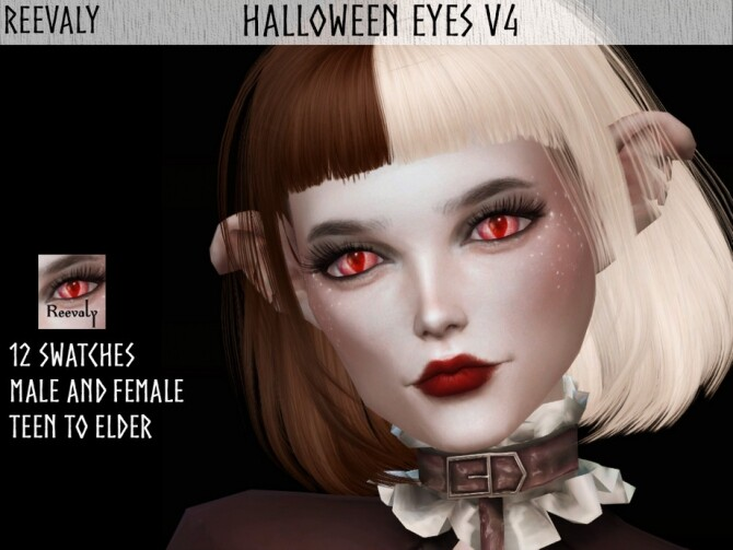 Sims 4 Halloween Eyes V4 by Reevaly at TSR