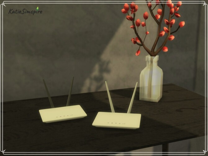 WiFi Routers by Katiesimspire at TSR image 3613 670x503 Sims 4 Updates