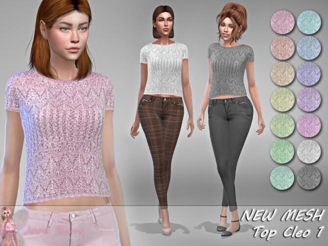 Sims 4 Top Cleo 1 by Jaru Sims at TSR