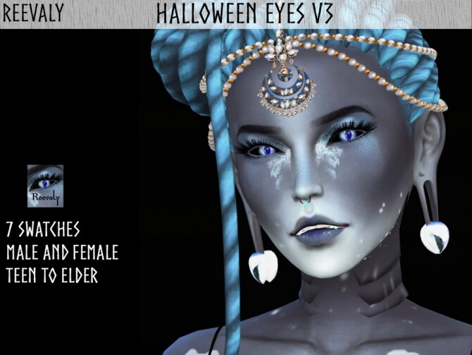 Sims 4 Halloween Eyes V3 by Reevaly at TSR