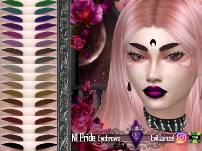 Pride N1 Eyebrows by EvilQuinzel
