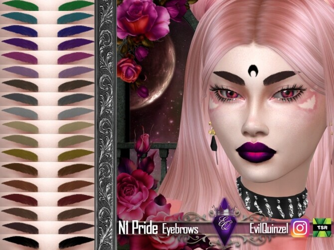 Sims 4 Pride N1 Eyebrows by EvilQuinzel at TSR