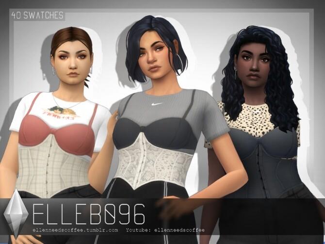 Sims 4 Layered Bra & Corset Shirt by Elleb096 at TSR
