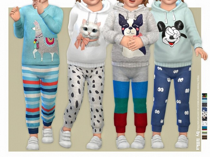 Sims 4 Sweatpants for Toddler 05 by lillka at TSR