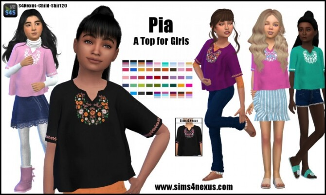Pia top for girls by SamanthaGump