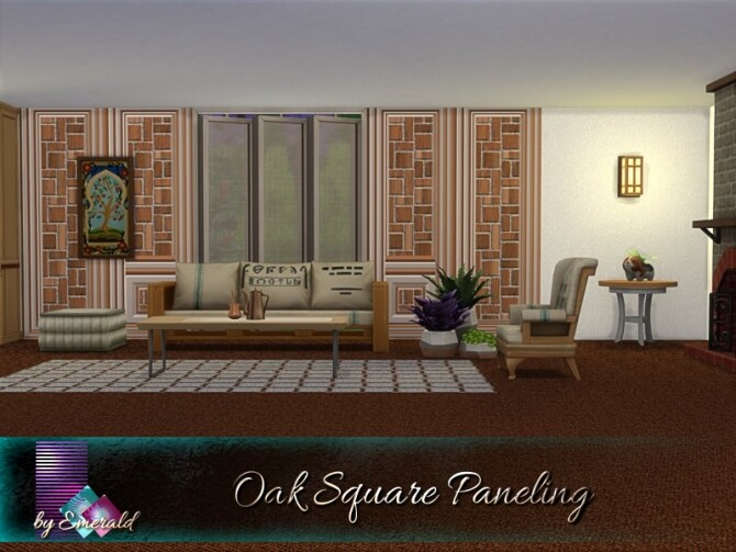 Sims 4 Oak Square Paneling by emerald at TSR