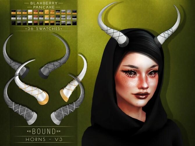 Sims 4 Bound Horns at Blahberry Pancake