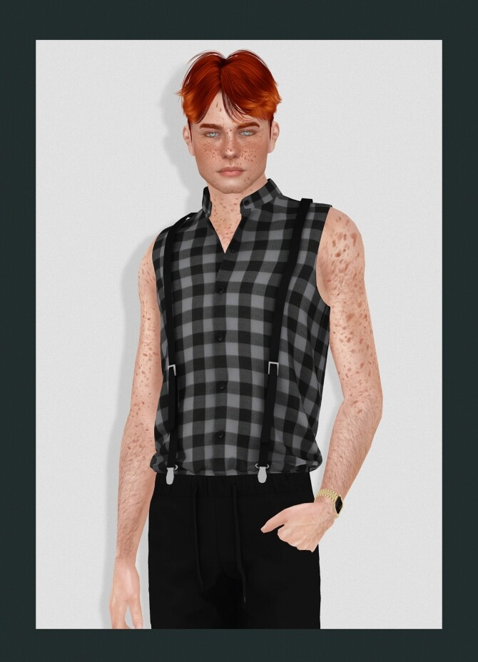 Sims 4 JONATHAN HAIR ALL AGES at REDHEADSIMS