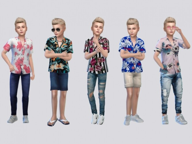 Floral ButtonUp Shirts Kids by McLayneSims