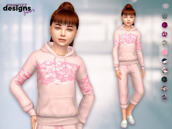 Sims 4 Junior Camo Set by Pinkfizzzzz at TSR