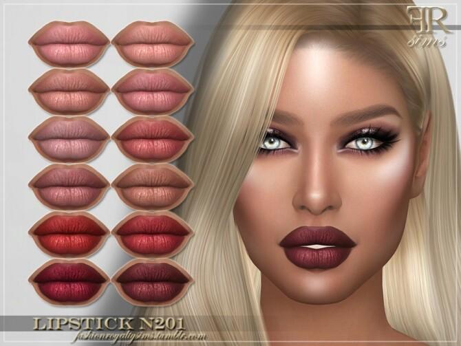 Sims 4 FRS Lipstick N201 by FashionRoyaltySims at TSR