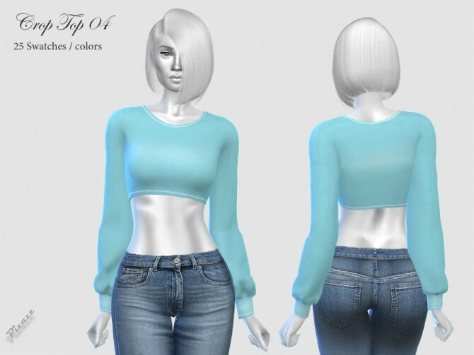 Sims 4 Crop Top 04 by pizazz at TSR