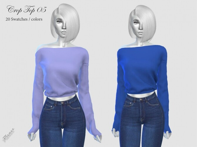 Crop Top 05 by pizazz at TSR image 4117 670x503 Sims 4 Updates