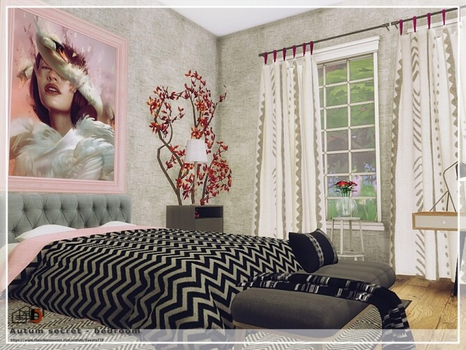 Autum secret bedroom by Danuta720 at TSR image 4120 670x503 Sims 4 Updates