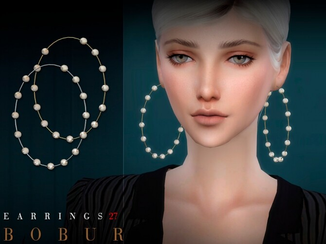 Sims 4 Earrings 27 by Bobur3 at TSR