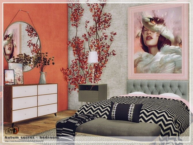 Autum secret bedroom by Danuta720 at TSR image 4218 670x503 Sims 4 Updates