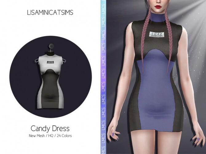Sims 4 LMCS Candy Dress by Lisaminicatsims at TSR