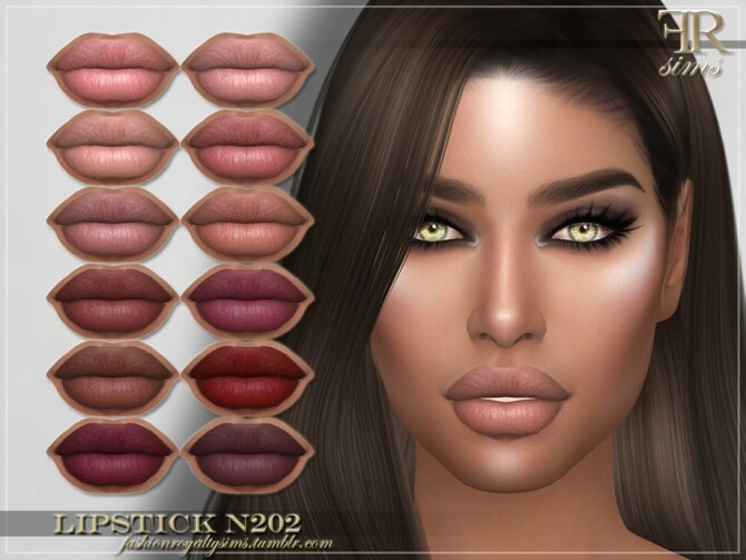 Sims 4 FRS Lipstick N202 by FashionRoyaltySims at TSR