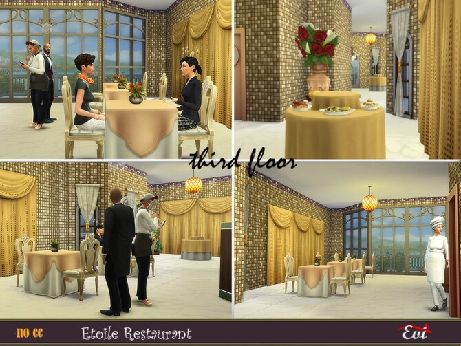 Sims 4 Etoile Restarurant by evi at TSR