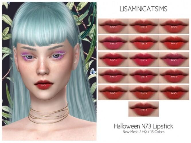 LMCS Halloween N73 Lipstick HQ by Lisaminicatsims