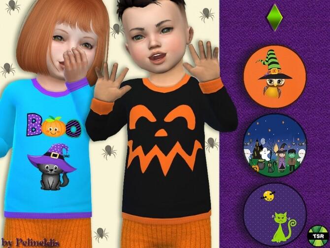 Sims 4 Toddler Halloween Sweatshirt by Pelineldis at TSR
