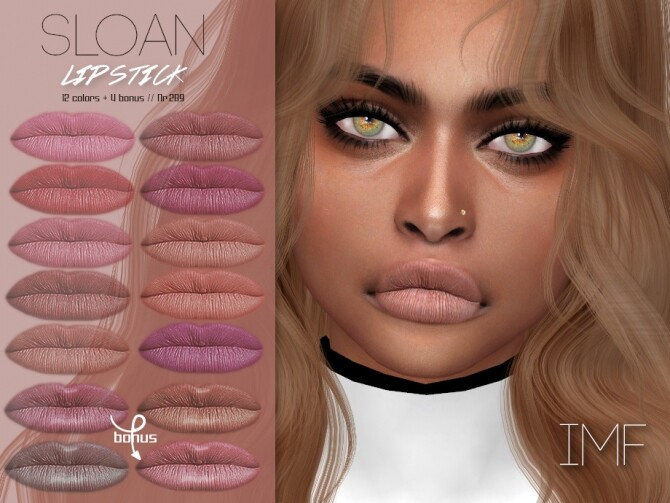 Sims 4 IMF Sloan Lipstick N.289 by IzzieMcFire at TSR
