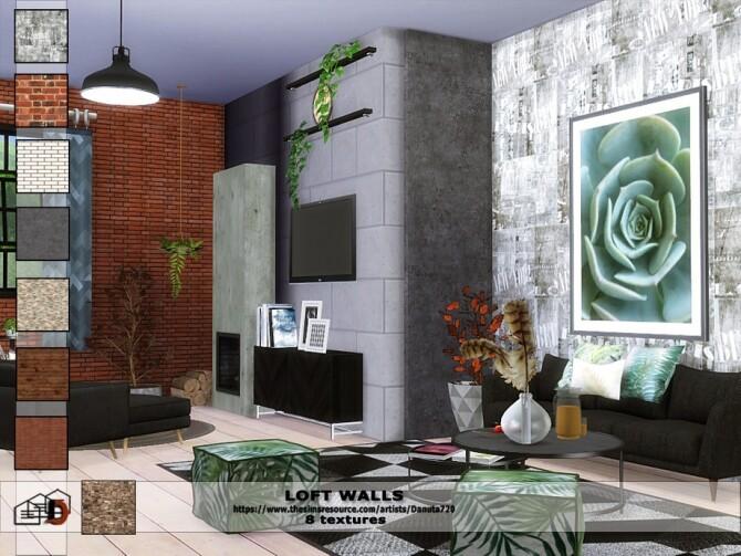 Loft walls by Danuta72 at TSR image 441 670x503 Sims 4 Updates