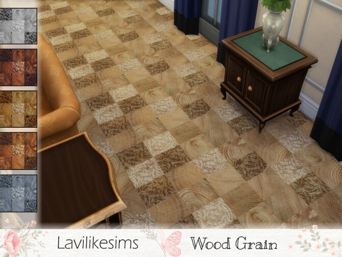 Sims 4 Wood Grain Floor by lavilikesims at TSR