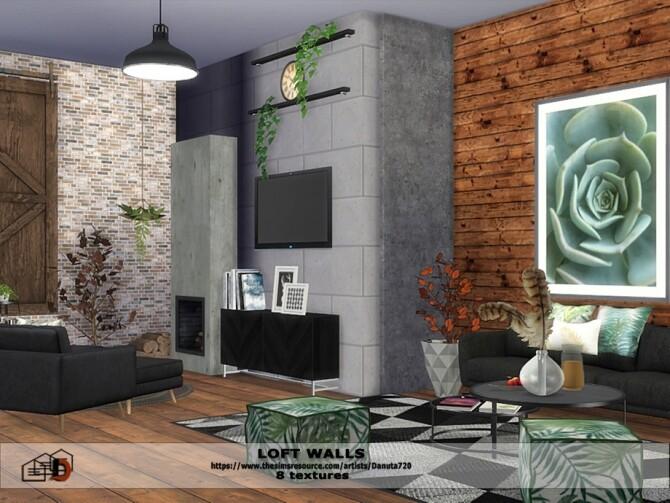 Loft walls by Danuta72 at TSR image 451 670x503 Sims 4 Updates
