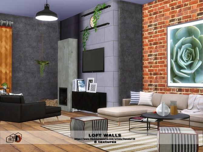 Loft walls by Danuta72 at TSR image 461 670x503 Sims 4 Updates